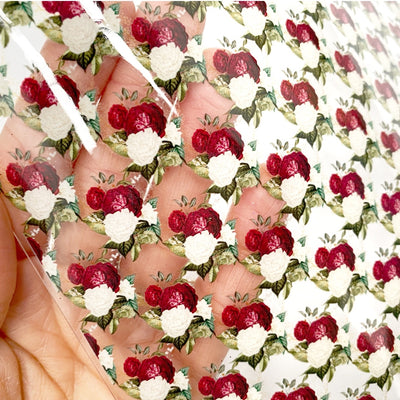 The Christmas Rose Transparent Fabric Sheets
