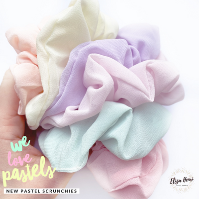 Luxury Pastel Soft Scrunchies