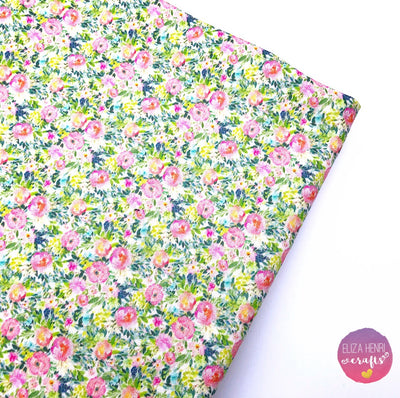 Lemonade Floral Artisan Fabric Felt