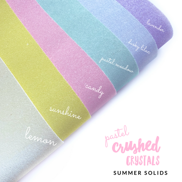 Pastel Crushed Crystals Sparkle Solids Fabric Sheets