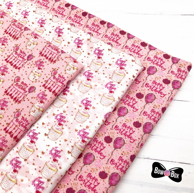Pretty Pink Birthday Collection Fabric Felts- As seen in Bow Box