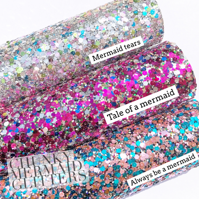 Textured Mermaid Chunky Glitter Fabric