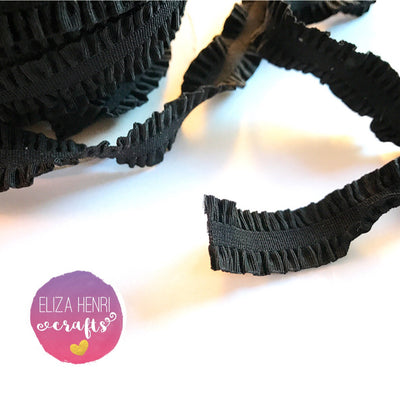 Frilly Black Ruffle FOE Hair Elastic