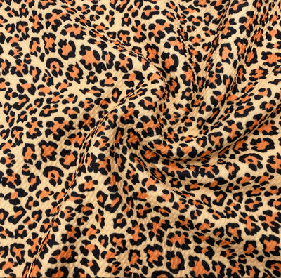 Toffee Brown Leopard Premium Bullet Fabric