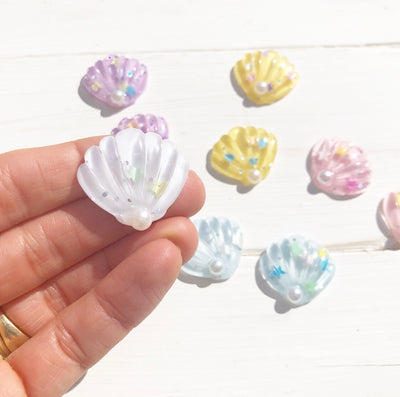 Pearl Shell Resin Charms
