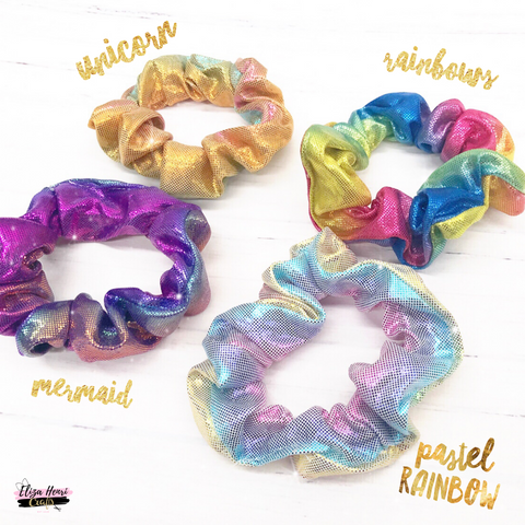 unicorn hair scrunchies