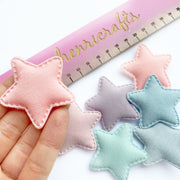 Pastel Soft Star Embellishments