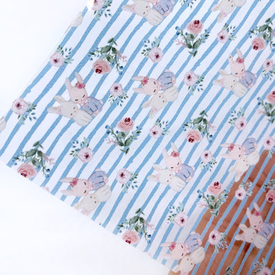 Stripe Mummy & Bunny Transparent Fabric Sheets