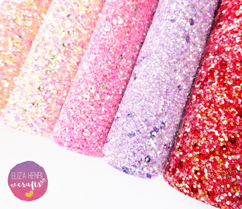 Summer Tones Sequin Chunky Glitter Fabric Collection