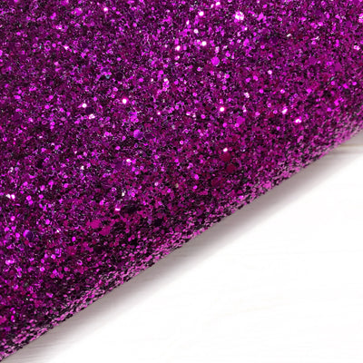 Touch of purple Chunky Glitter Fabric