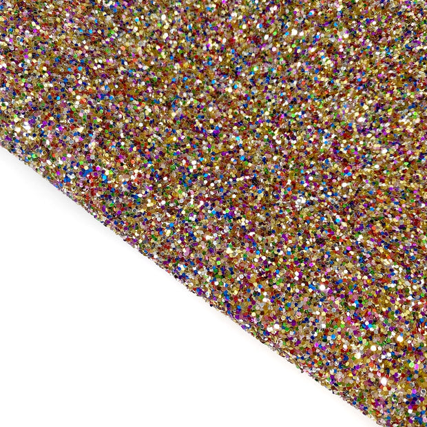 Magical Woods Golden Lux Premium Chunky Glitter Fabric