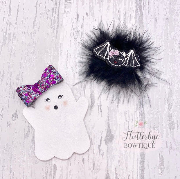 Cute Ghost and Bow Hair Template