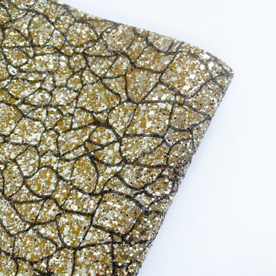 Bee Hive Crackle Lux Premium Chunky Glitter Fabric- NEW CORE RANGE