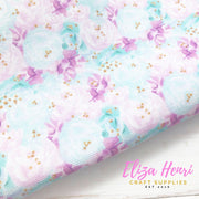 New Pastel Summer Florals Standard Fabric Felt