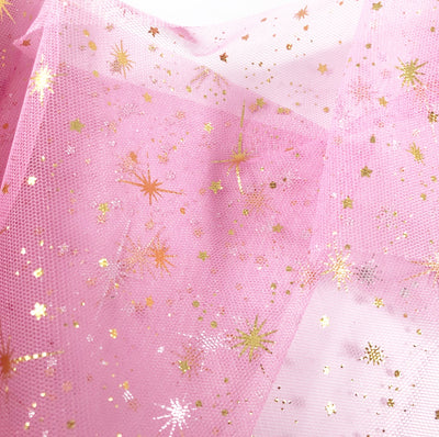 Luxury Foil Unicorn Star Tulle Fabric