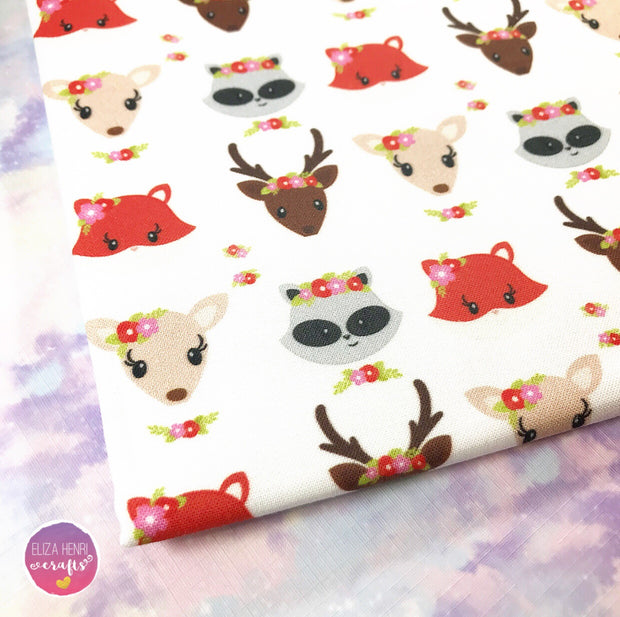 EXCLUSIVE Floral Woodland Babies Fabric Felt