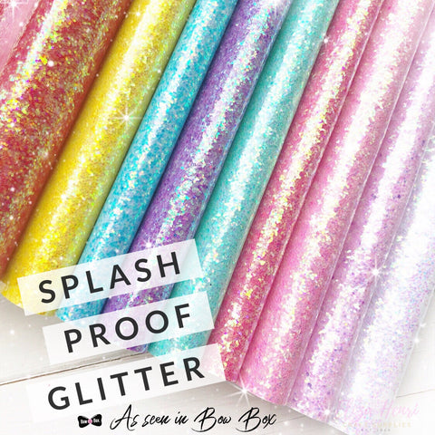 Splash Proof Vinyl Coated Chunky Glitter Fabrics