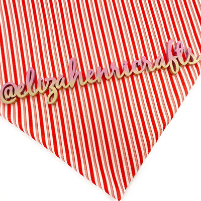 Candy Cane Bullet Fabric