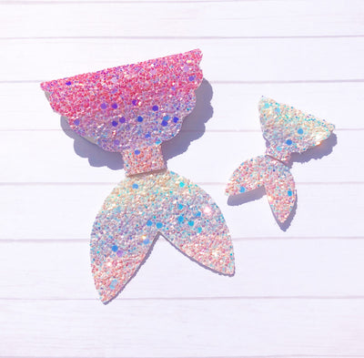 Lila the Mermaid Official Bow Die cutter- 2 sizes on 1