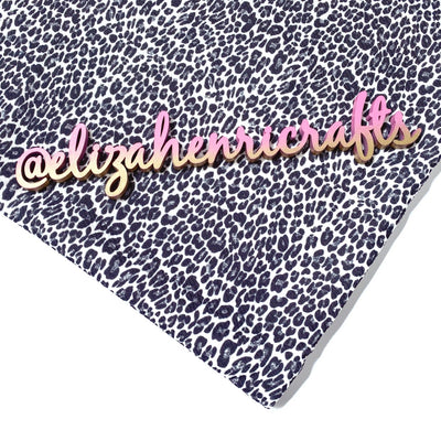 EHC White & Silver Leopard Print Bullet Fabric