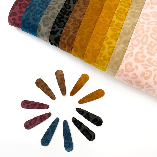 Leopard Faux Suede Fabric Sheets
