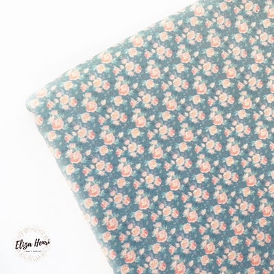 Mint & Peach Heavenly Spring Floral Premium Artisan Fabric Felt