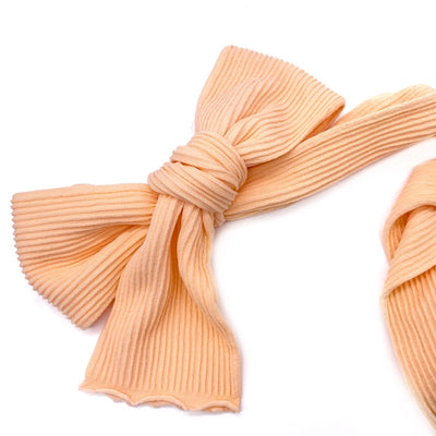 Ribbed Nylon Limitless Strips- Peach Dreams