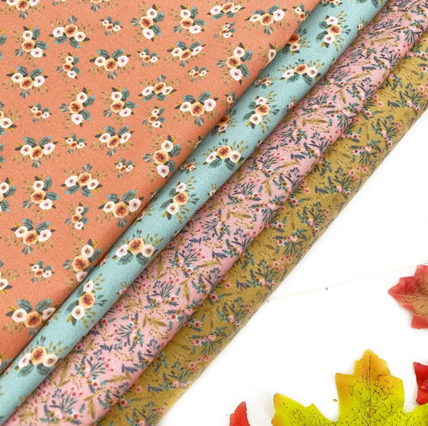 Autumn Florals Felt Backed Fabric