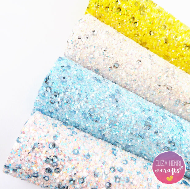 Beach Vibes Sequin Chunky Glitter Fabric Collection