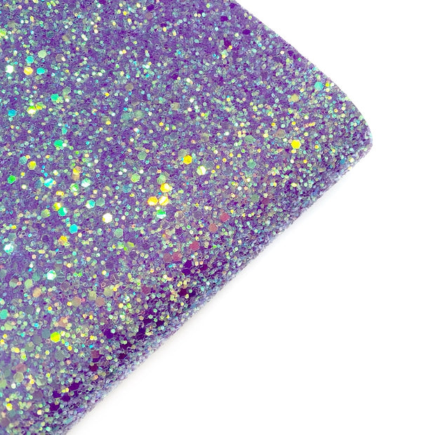 Twilight Purple Sparkles Chunky Glitter Fabric- Premium Essentials