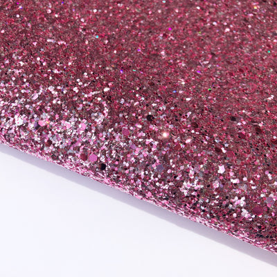 Pink Princess Chunky Glitter Fabric