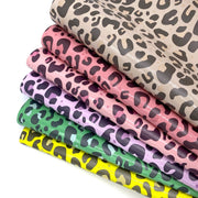 Leopard Print Patent Fabric Sheets