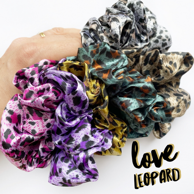 Luxury Leopard Print Scrunchies