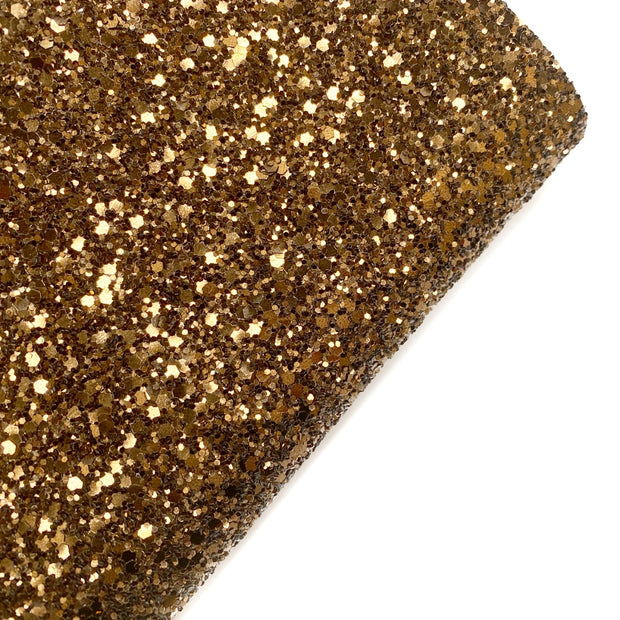 Dark Brown Chunky Glitter Fabric- Premium Essentials