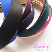 Wide Satin Alice Hair Bands- 3cm