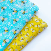 Glittery Bees Printed Fabric Felts