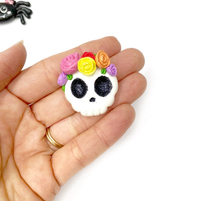 EXCLUSIVE Floral Sugar Skulls Clay Charms