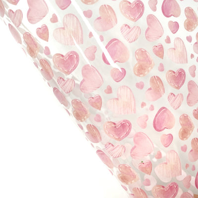 Candy Hearts Transparent Fabric Sheets