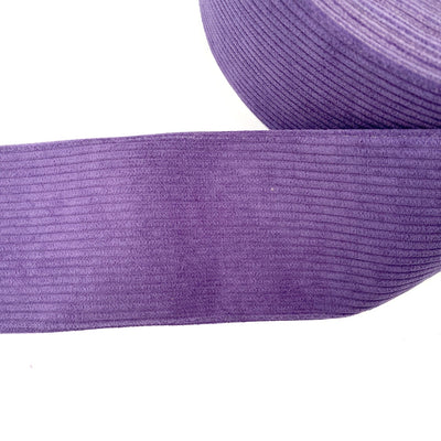 Purple Corduroy Ribbon 3''