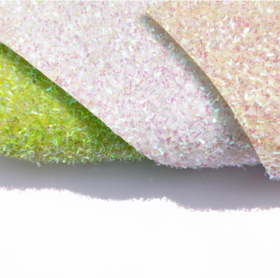 Iridescent Kisses Chunky Glitter Tinsel Fabric