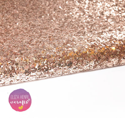 Rose Gold Addiction Chunky Glitter Fabric