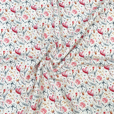 Ballerina Party Floral Premium Print Bullet Fabric