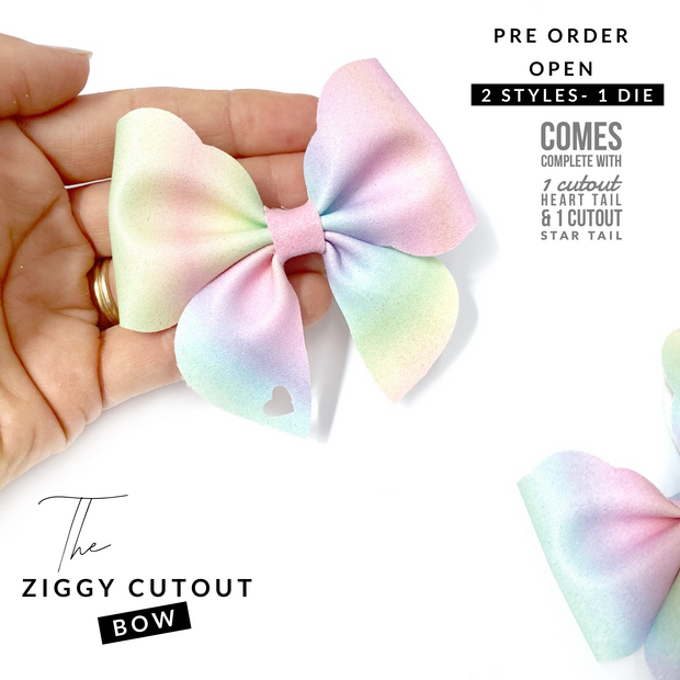 The Ziggy Cutout Hair Bow- Die Cutter/Template- PRE ORDER DUE MID AUGUST