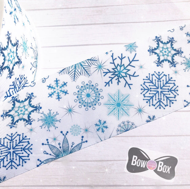 Snowflakes Grosgrain Ribbon 2'' or 3''