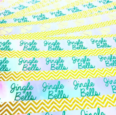 Exclusive Jingle Bells Foil Bow Transfers