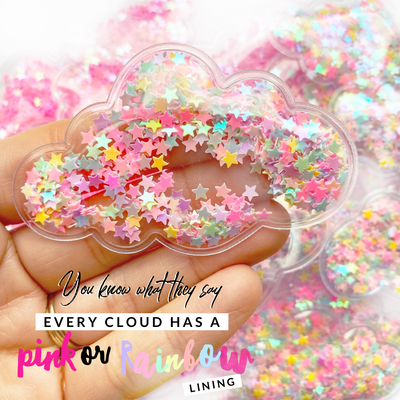 Confetti Filled Cloud Shaker Embellishments