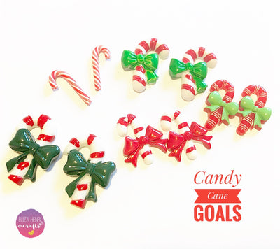 Candy Cane Charm Embellishments