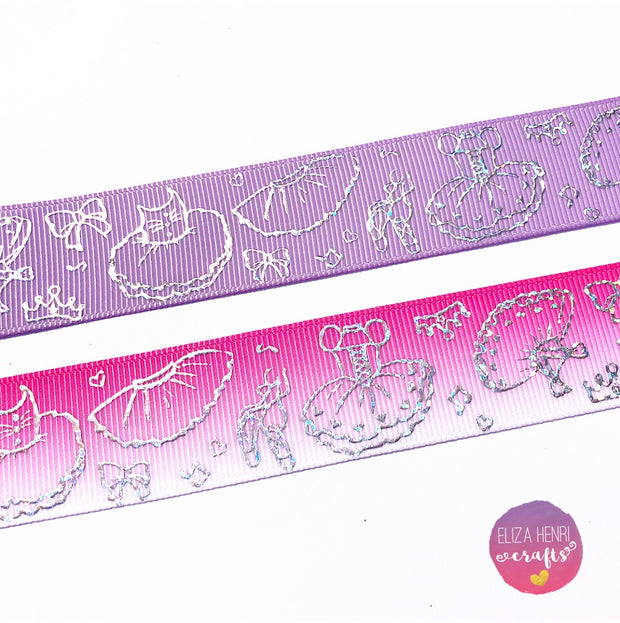 New Holographic Ballerina Grosgrain Ribbon 25mm