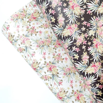 Wild Florals Faux Leather Fabric Sheets