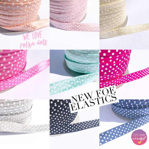 Luxury Polka Dots FOE Hair Elastic